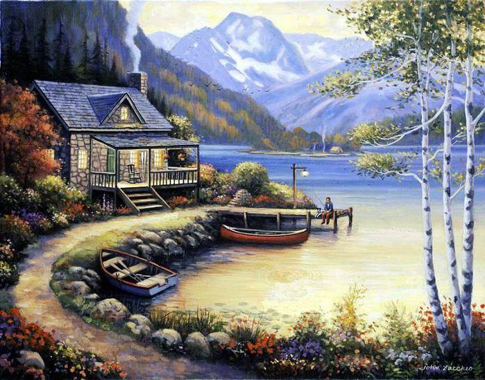 картины для домика рыбака