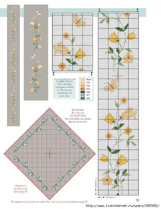 Маленькие схемы салфеток крестом