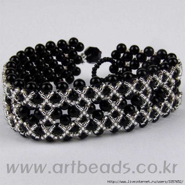 схема плетение браслетов из бисера - Интересные полезности.