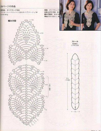 Вяжем шарфики руками не - 7