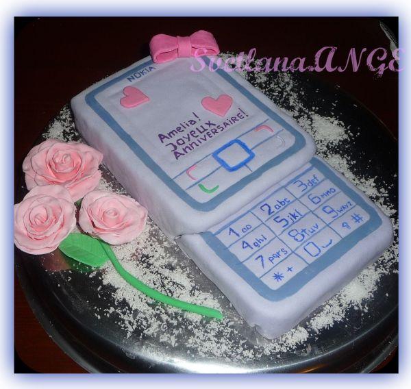 Торт с фотографией мобильного телефона