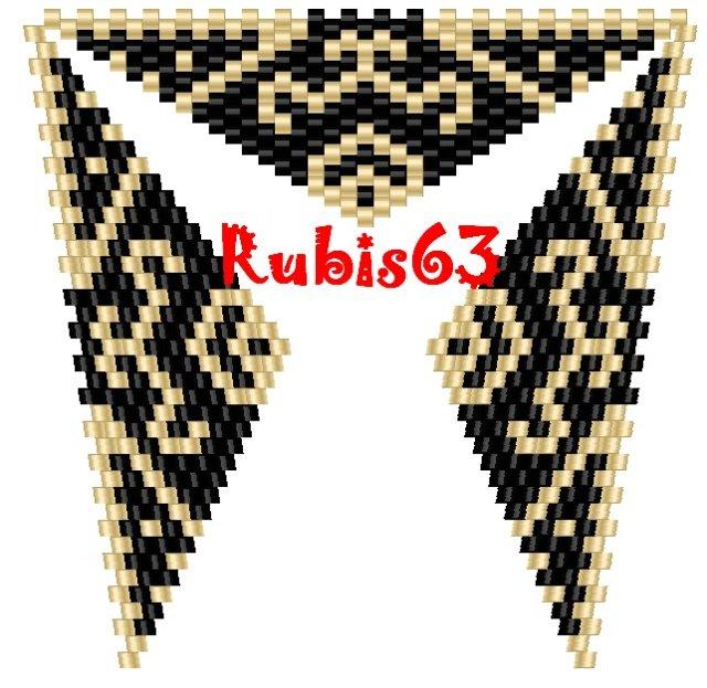 НАЙДЕНО.  ТУТ Для тех, кто увлечен бисероплетением, предлагаю эти схемы плетения треугольничков из бисера...