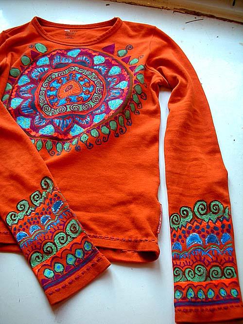 Творчество/творчество дочки. художники. роспись одежды. этностиль.
