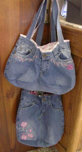 Сшить сумку из джинсов выкройка - Выкройка