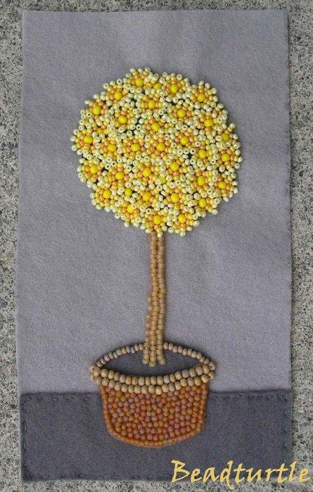 МК - дерево из фетра и бисера.