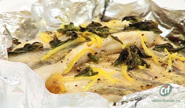 судак в фольге с овощами в духовке рецепт видео