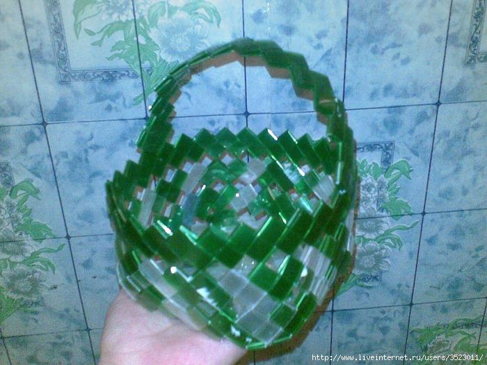 Как сделать корзинку из пластиковых бутылок своими руками