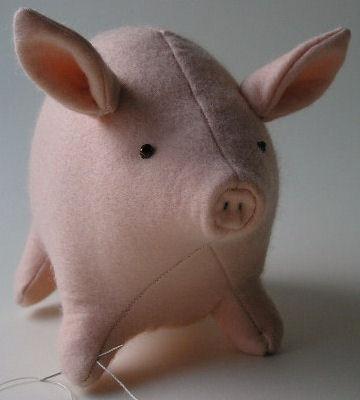 Свинка мягкая игрушка своими руками