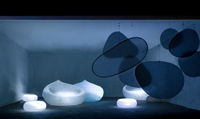 Войлочные камни в дизайне.