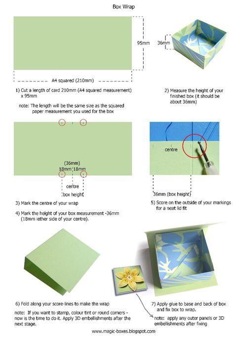 как сделать куб из бумаги - Бисер и.