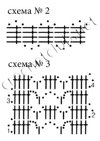 Свяжите 82 квадрата по схеме 1, сразу соединяя их между собой (при провязывании последнего ряда). квадраты соединяйте...