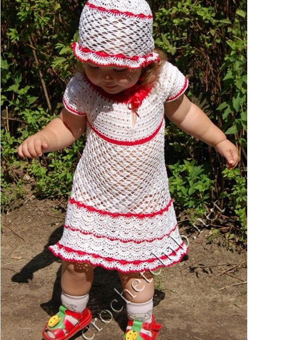 """Связано из пряжи  """"Ирис """".  В комплект входит шапочка-панамка и платьице, связанное без...  Источник-http."""