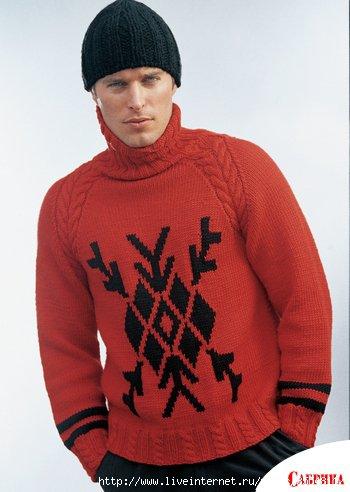 схемы вязания мужских свитеров спицами. вязание спицами мужские.