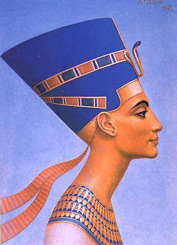 Нефертити была не только царицей, ее почитали как богиню.  Самая известная и, возможно, самая красивая из жен...