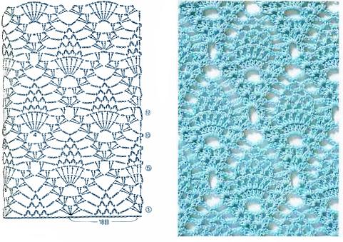 схемы узоров для вязания крючком.