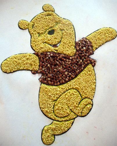 Поделка из крупы своими руками для детей осень