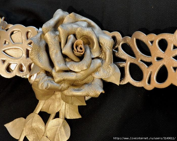 цветы из кожи мастер класс - Сумки.