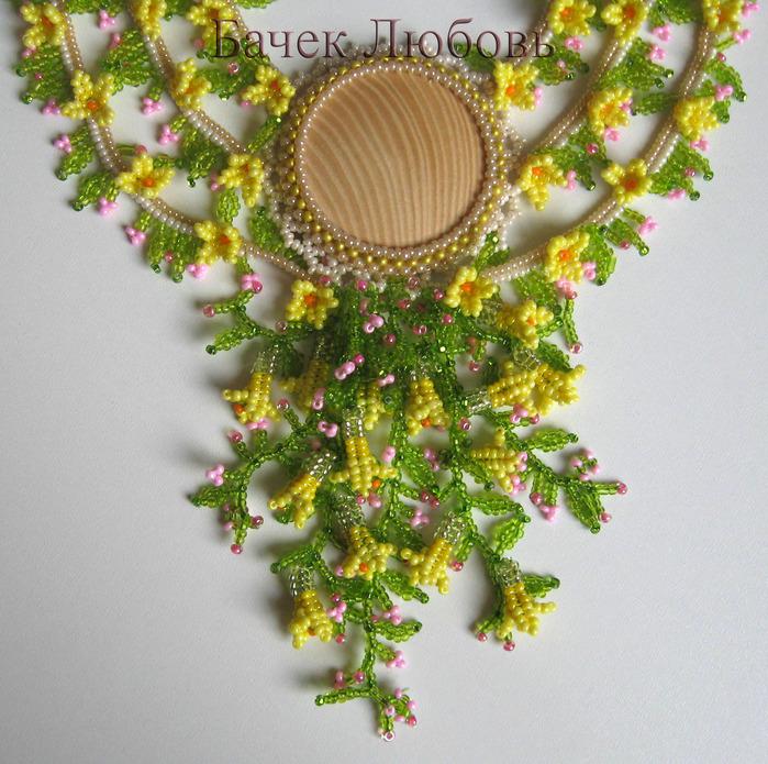 Плетение из бисера бабочек (описание и схемы плетения).  Колье