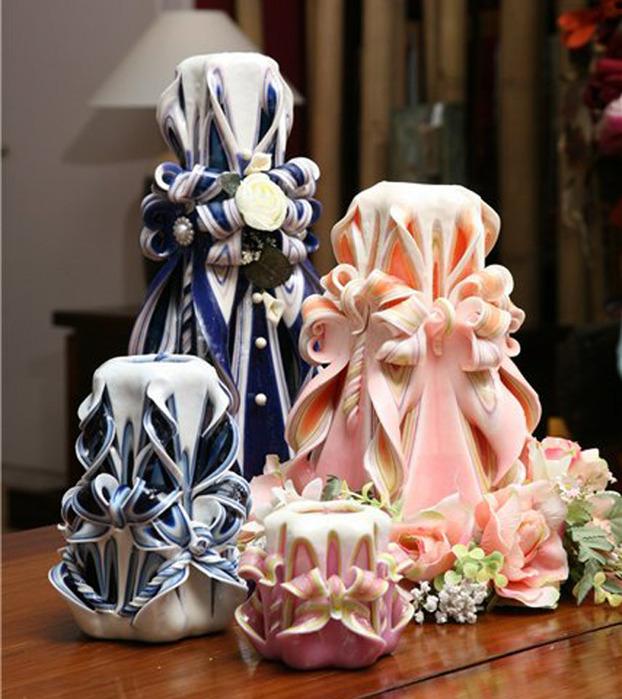 Декоративная свеча своими руками мастер класс