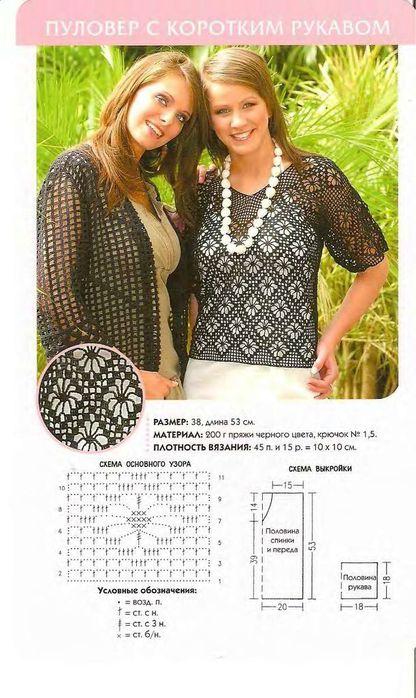 Бесплатные схемы вязания женской блузы