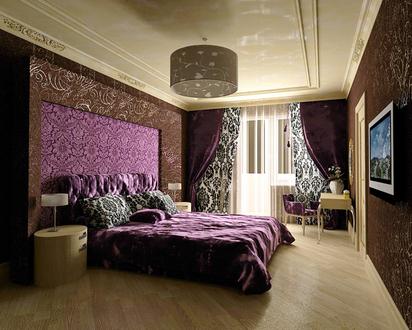 Блеск и роскошь в гламурной спальне должны органично сочетаться с...