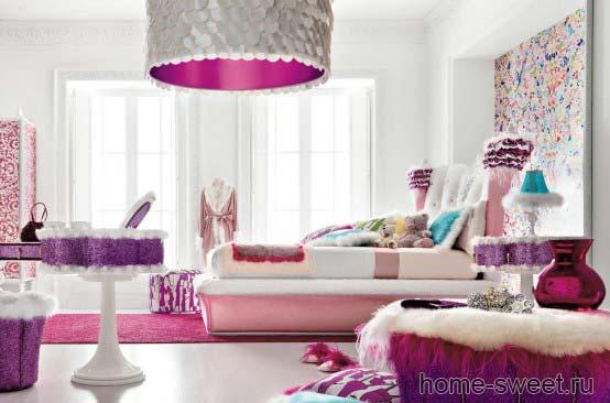 Детские интерьеры charming-Pink-girls-room3.jpg.