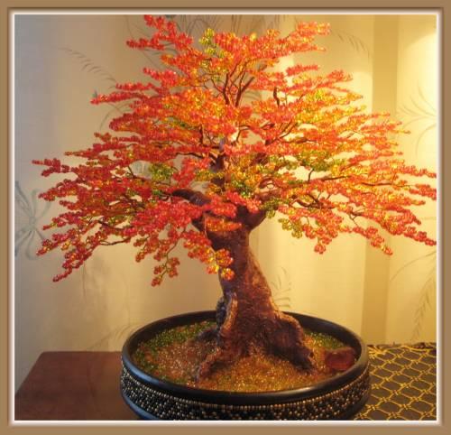 Дерево бисером фото своими руками