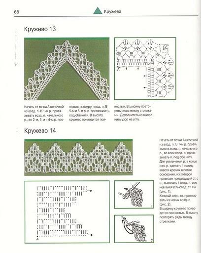 Вязание крючком обвязки схемы 34