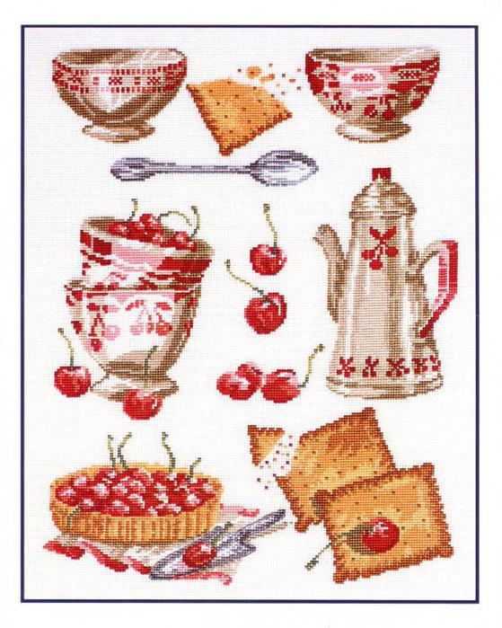 вышивка крестом посуда схемы