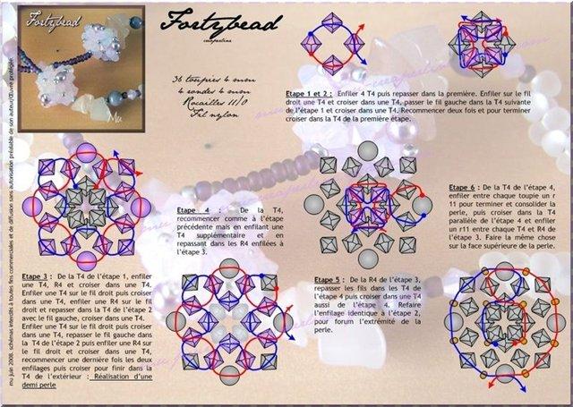 Ежик, схема плетения