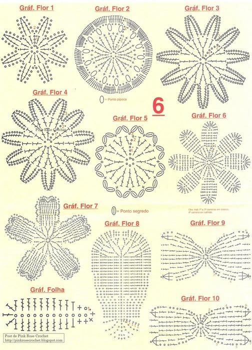 Ваза с цветами вязание схемы крючком