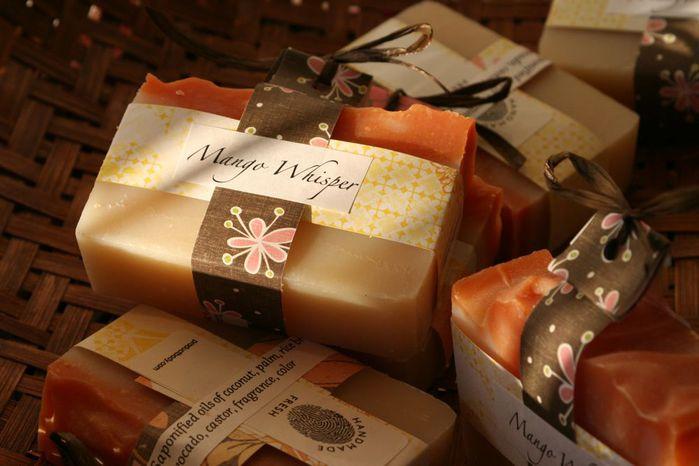Мыло ручной работы в подарочной упаковке