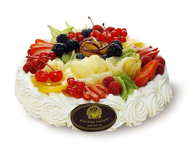 Торт фруктовый с днем рождения 13