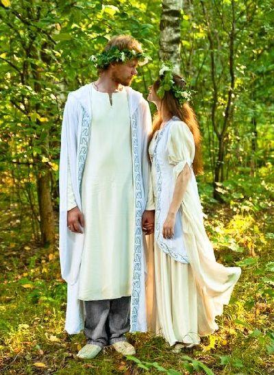 Модели 145, 146 Свадебные одеяния в эльфийском духе - Свадебные платья...