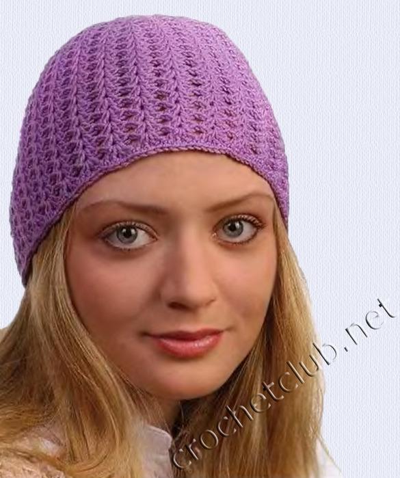 схема шапочки для женщин крючком.