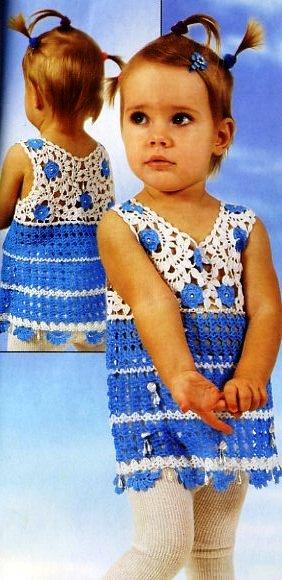 Вязание крючком платья сарафаны для девочки.