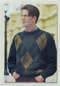 вязание свитер синий мужской схема. вязаный спицами женский свитер...