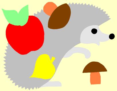 Аппликация для детей на осеннюю тему с выкройками.  Осень поражает нас разнообразием красок и неповторимых цветовых...