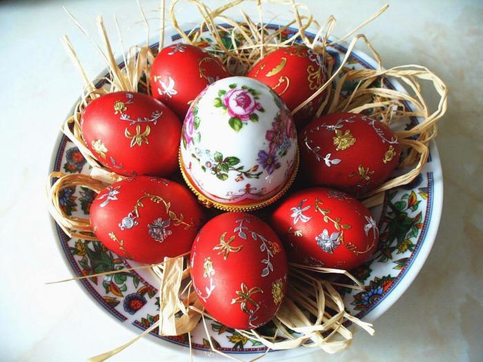 """Картинка 44 из презентации  """"Пасхальные яйца """" к урокам праздников на тему  """"Пасха """""""