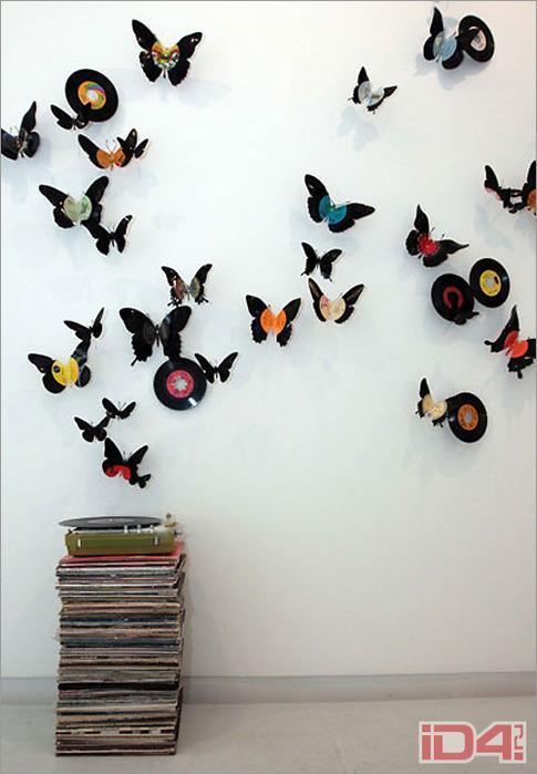 Трафарет бабочек на стену своими руками