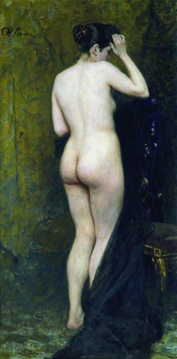 Репин И.Е. Обнаженная натурщица (со спины).  1895–1896 - изящная картина, из коллекции Репина.