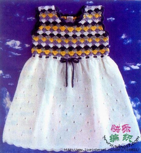 Представлены а вязание детского платья схемы и фото 22 элегантные.