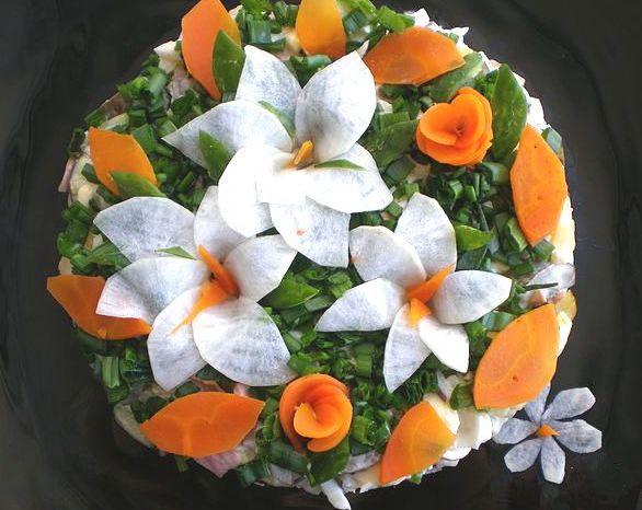 Все салаты и закуски в картинках. очень вкусный несложный салат Оригинал...