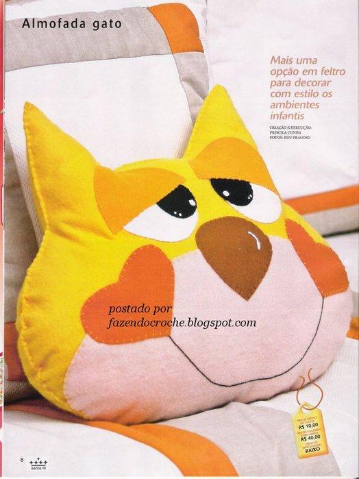 Подушка Мордочка кота.  Прочитать целикомВ.
