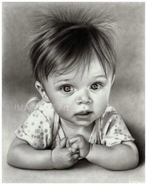 Рисунки дети нарисованные карандашом