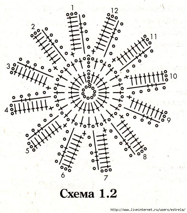 Маргаритки схема вязания 95