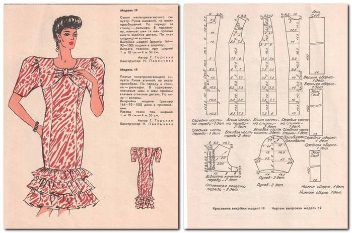 Выкройки женской одежды с чертежами
