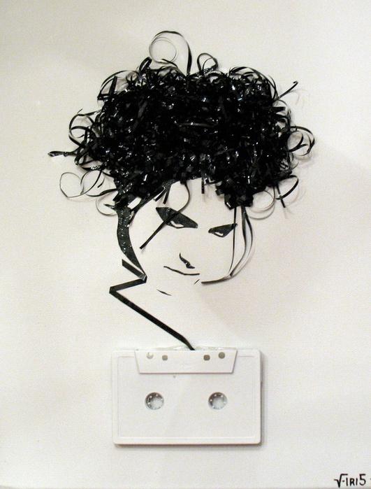 """""""Призрак в машине """" - портреты из магнитофонной ленты - фото 12."""