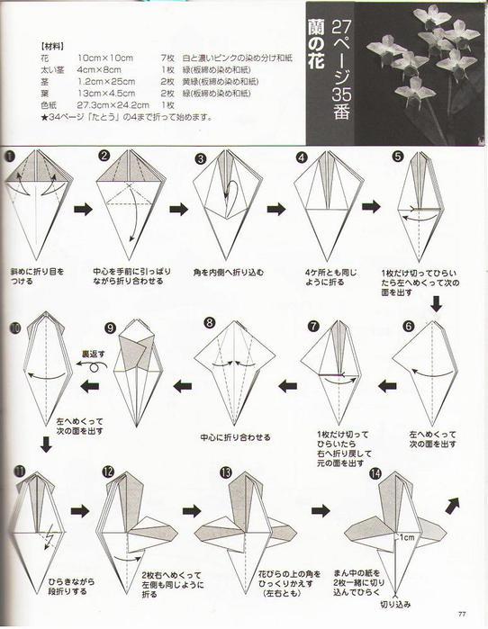 Орхидеи из оригами