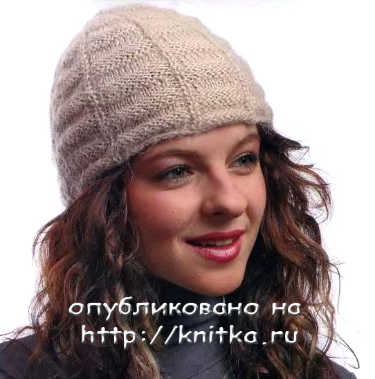Вязание шапок спицами вязание